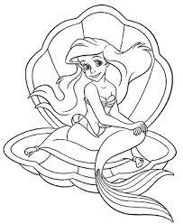 coloring pages disney princess arieljlongok printable jlongok 2845