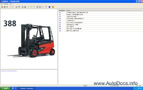 linde fork lift truck 2014 parts manual