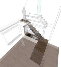 Stair Elements by Purposeful Consolidation Stair Case Study Houses Ii Detail
