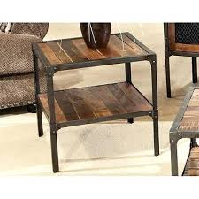 distressed metal coffee table wood and steel coffee table magnificent rustic metal furniture