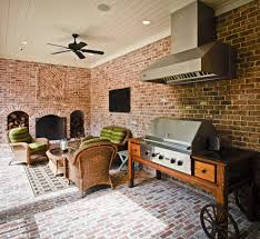 outside grill ideas porch traditional with beadboard ceiling brick