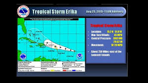 national hurricane center 11 00am update tropical storm erika