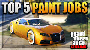 gta 5 top 5 paint jobs u0026 car color schemes online best rare