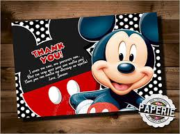 mickey mouse thank you cards 21 birthday thank you cards free printable psd eps format