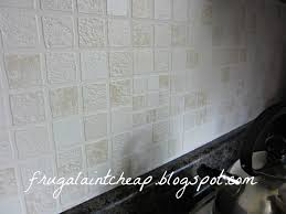 Backsplash Wallpaper That Looks Like Tile frugal ain u0027t cheap kitchen backsplash great for renters too