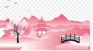 mount fuji graphic design cherry blossom mount fuji cherry