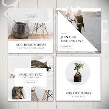 instagram design ideas instagram template pack luminous 8 square social media