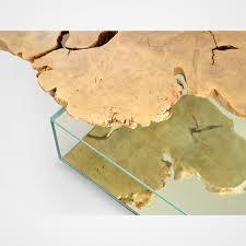maple wood on glass box coffee table u2013 rotsen furniture