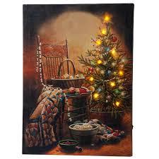 doug knutson christmas lighted canvas by northwoods miles kimball