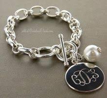 silver monogram bracelet 20 best silver monogrammed bracelets images on monogram