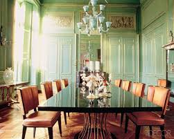 Green Dining Rooms by