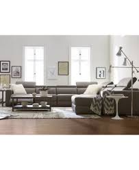 Spencer Leather Sectional Sofa Wonderful Spencer Leather 4 Sectional Sofa One Arm Loveseat