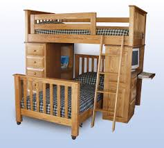 Kid Bunk Beds With Desk by Bedroom White Painted Wooden Loft Bed Which Prettify With Narrow