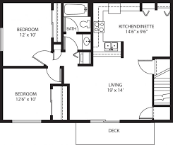garage floor plans with living quarters for apartment plan