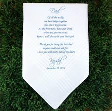 Customized Wedding Gift Father Of The Bride Handkerchief Wedding Hankerchief Printed