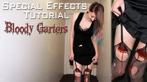 Halloween Special Effects Makeup Ideas by Bloody Garter Special Effects Makeup Tutorial Youtube