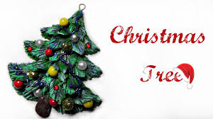 polymer clay tutorial christmas tree youtube