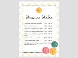 free printable thanksgiving trivia true or false baby trivia cute as a button baby shower them games png