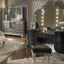 Vanity Set Furniture Michael Amini Swank Vanity Set W Mirror And Bench
