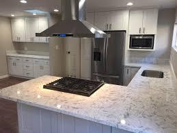 white shaker kitchen cabinets with gray quartz countertops kitchen white shaker cabinets quartz countertop in los