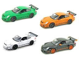 porsche toy car welly 1 32 display porsche 911 997 gt3 rs diecast car 4 x color