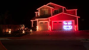Christmas House Light Show by This Is Halloween 2014 Halloween Light Show House Youtube