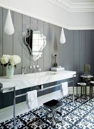 Grey Tile Bathroom by Reasons To Use Black Subway Tile In Bathroom Wooden Cabinet Beside