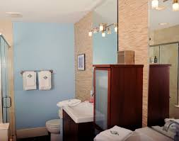 Bachelor Pad Bathroom Exposed Brick 15 Foot Ceilings Not Your Typical Bachelor Pad