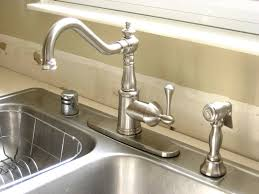 satin nickel deck mount vintage style kitchen faucets single