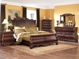 warm brown finish 6pc classic bedroom set w optional armoire