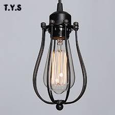 wire light bulb cage vintage industrial l guard black metal bulb birdcage lights iron