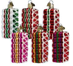 candy ornaments world christmas ornaments ribbon candy 36055
