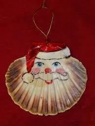scallop shell ornaments fair isle scallop shell santa