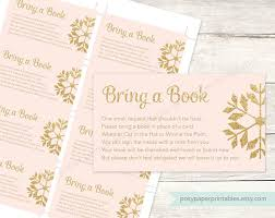 Bring Book Instead Of Card To Baby Shower Bring A Book Instead Of A Card Insert Printable Baby Shower Diy