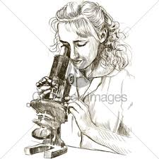 microscope doodle gl stock images