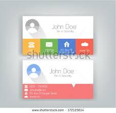 Flat Design Business Card Simple Flat Business Card Design Soft Stock Vector 172125614
