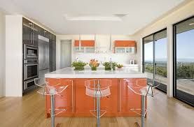 acrylic bar stools kitchen contemporary with bold colors breakfast