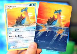how to make pokemon cards even better paint them kotaku australia