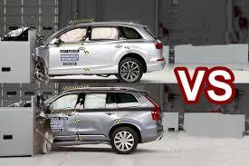 lexus vs audi q7 2016 volvo xc90 vs 2017 audi q7 crash test videos
