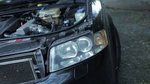 audi a4 headlight bulb replacement audi a4 headlight removal diy
