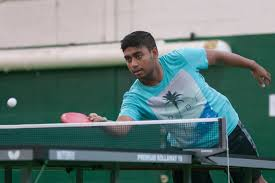 Table Tennis Tournament by Table Tennis Tournament Showcases Two Competitive Players The