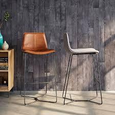 slope upholstered bar counter stools west elm
