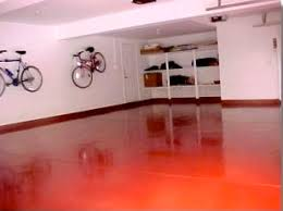 Painted Concrete Basement Floor by Concrete And Garage Floor Paint Wow Way To Add Color To An