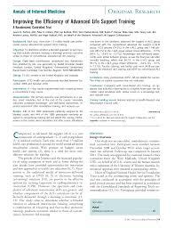 improving the efficiency of advanced life support traininga