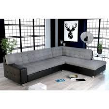 canapé capitonné design meublesline canapé d angle capitonné java design gris noir 220cm