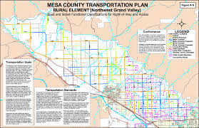 Colorado Road Map by Transportation Maps Planning Division Mesa County Colorado