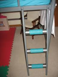 Padding Along Metal Bunk Bed Rungsswimming Noodles And Duct - Metal bunk bed ladder