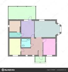 unfurnished floor plan of a modern apartment for your design