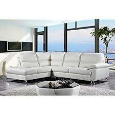 Leather Sectional Sofa Chaise by Amazon Com Cortesi Home Contemporary Miami Genuine Leather