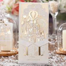 sts for wedding invitations 100 pieces gold white 3d shiny castle wedding invitations
